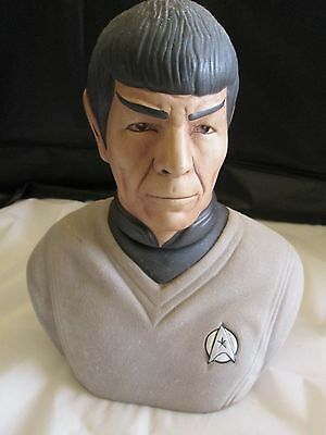 Star Trek Mr. Spock Head Porcelain Bust 1979 Grenadier Decanter Original In Box