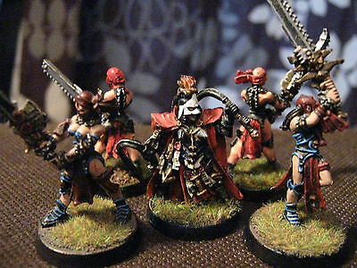 pro painted WARHAMMER 40k SISTERS OF BATTLE REPENTIA SQUAD.