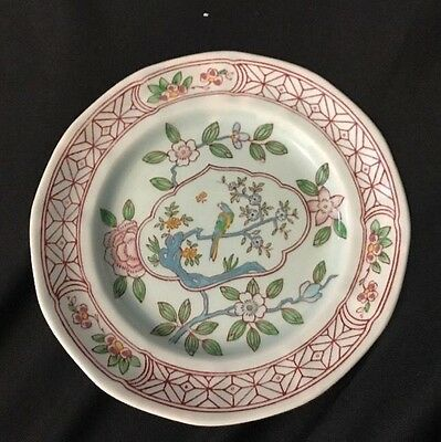 "Adams China Singapore Bird 6 1/8"" Bread Plate Calyx Ware Made In England"