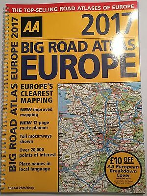 AA Big ROAD ATLAS of Europe NEW Touring Map FRANCE ITALY GERMANY Latest - 2017