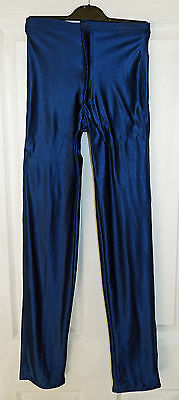 Vintage Navy Blue Spandex Disco Pants/Jeans/Trousers - Eesheta Girl