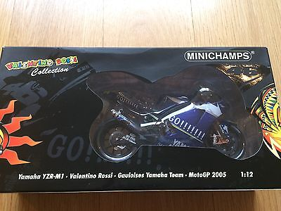 Minichamps 1:12; Yamaha YZR-M1; Valentino Rossi, Moto GP 2005; Excellent+ Boxed