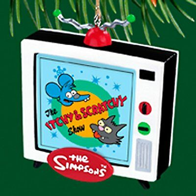 Itchy & Scratchy TV  - Miniature Carlton Cards 2004 Ornaments