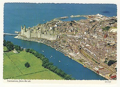Old Postcard - Caernarvon, From the Air (Bamforth) - Unposted 0206