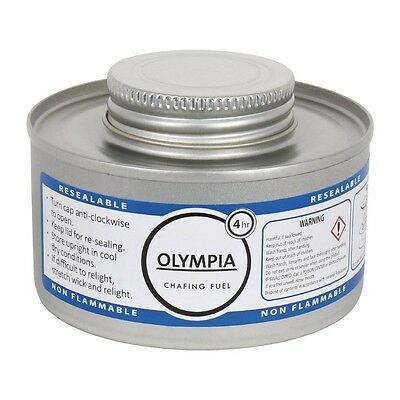 12 X Olympia Liquid Chafing Fuel 4 Hour Catering Gel Tin Burn Warmers