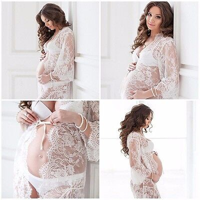 Maternity Lace Gown In White Or Black Colours Perfect For Photoshoot