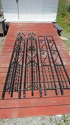 Architectural Salvage Vintage Porch Supports Scrolls & twisted Wrought Iron!!
