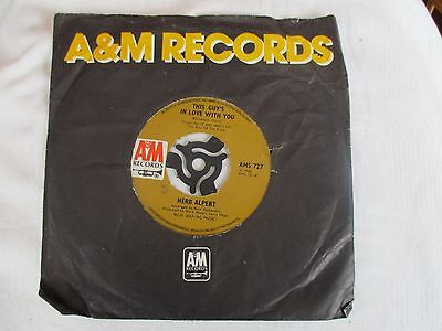 Herb Alpert - This Guy's in Love with You / A Quiet Tear - AM Records AMS 727
