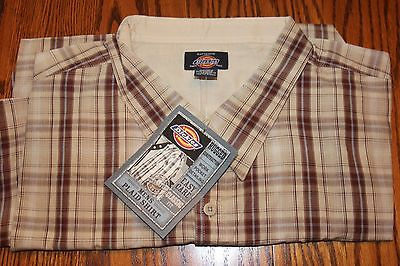 Dickies Mens Short Sleeve Plaid Shirt - Size 4XL - New With Tags