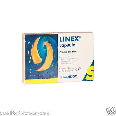 LINEX Probiotics 16 caps - Baby, Children, Adults- Treatment of Dysbacteriosis!