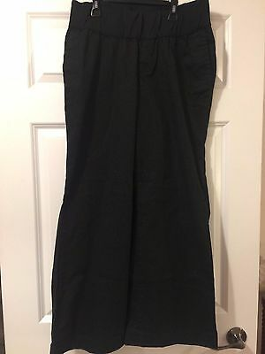 Maternity Clothes Pants Gap Size 12 Long Stretch Dark Grey