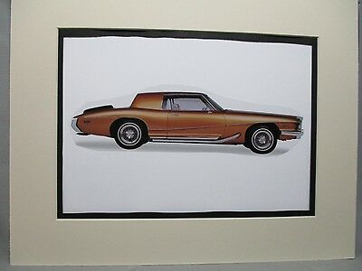 1972 Stutz Blackhawk    Artist art Auto Museum Full color  Illustrated