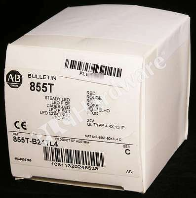 New Allen Bradley 855T-B24TL4 /C Control Tower Stack Light Black Housing 24V Qty
