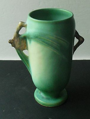 Beautiful Arts & Crafts Era ROSEVILLE GREEN PINECONE VASE #748 - 6""