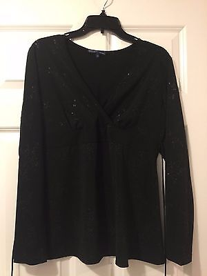 Maternity Top Size L Long Sleeve Black Thyme Maternity