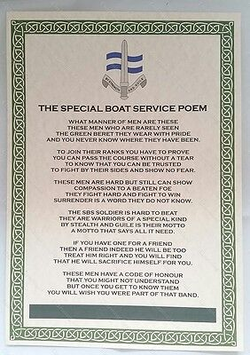 SBS Special Boat Service Poem Special Forces Royal Navy Military