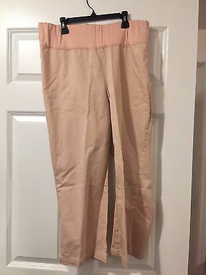 Maternity Gap Capri Pants Size 12 Pink Cotton