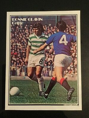 1977 A4 Football match action picture/poster RONNIE GLAVIN Celtic v Rangers