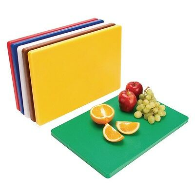 Hygiplas Thick Low Density Chopping Board Set 20X455X305mm Cutting Kitchen