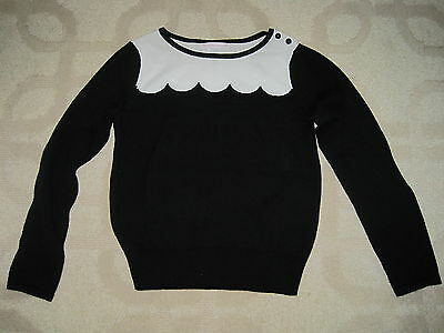 Janie and Jack Girl Black & White Sweater size 6 *EUC