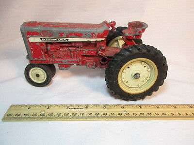 Vintage Ertl International Tractor Metal Red Paint Made In USA Toy Old 9 Inch