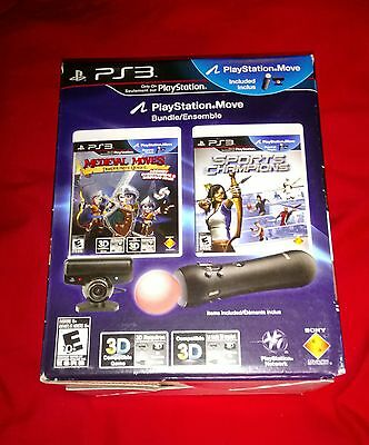 RARE NEW SEALED PS Move Playstation 3 4 VR Motion Controller Camera Bundle Games
