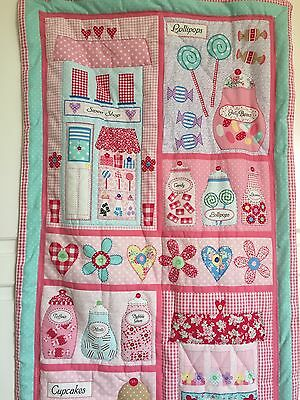 Cot Quilt Handmade Sweet Shop Design Or wall Hanging