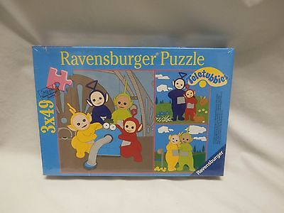 """1996 Ravensburger Puzzle The Teletubbies at Home 7"""" x 7""""  NEW Tinky Winky Dipsy"""