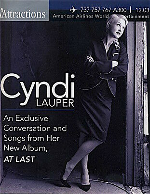 Attractions - American Airlines Magazine [December 2003] CYNDI LAUPER cover