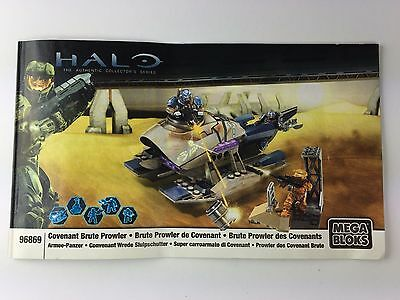 Mega Bloks HALO 96869 Covenant Brute Prowler - PARTS ONLY + Instruction Booklet