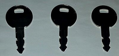 3 Key Pack 1051 Thwaites Dumper Ignition Switch & Machinery Tractors