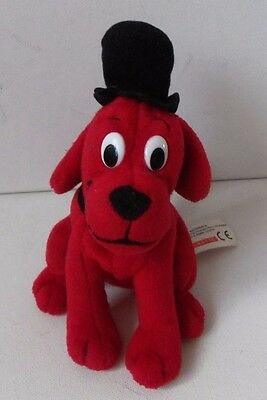 Clifford The Big Red Dog In Hat Plush Soft Toy Animal Figure Scholastic TV Doll