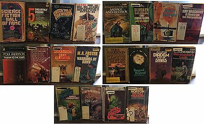 20-Book Vintage SF Paperback Lot - Former Library Copies and More