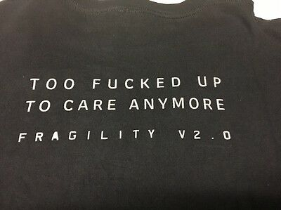 Vtg Nin Nine Inch Nails Fragility Too F*cked Up To Care Concert Tour Promo Shirt