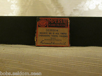 IMPERIAL Player Piano Roll: Believe Me If All Those Endearing Young Charms