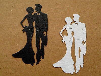 Couple Man Lady Paper Die Cuts x 10 Scrapbooking Card Topper Embellishment
