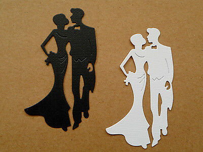 Couple Man Lady Paper Die Cuts x 5 Sets Scrapbooking Embellishment - NOT a DIE