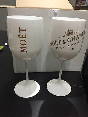 Moet & Chandon White Acrylic Champagne Goblet