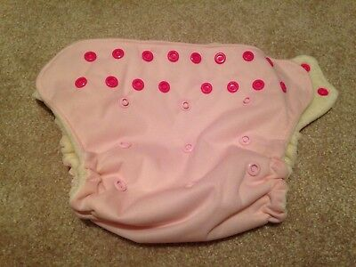 Organic Swaddlebees Pink Econappi Pocket Cloth Diaper Lot  Wahmies Wet bag NEW