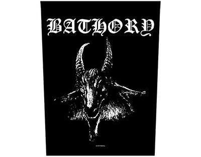 Official Licensed - Bathory - Goat Head Sew On Back Patch Extreme Black Metal