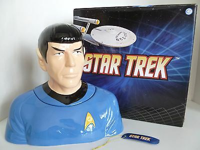 Star Trek Mr Spock Porcelain TOS Bust Cookie Jar Westland 2011. New in Box