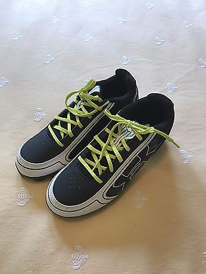 Boys Youth UNDER ARMOUR Black White Baseball Softball Low CLEATS Shoes Sz 7 New