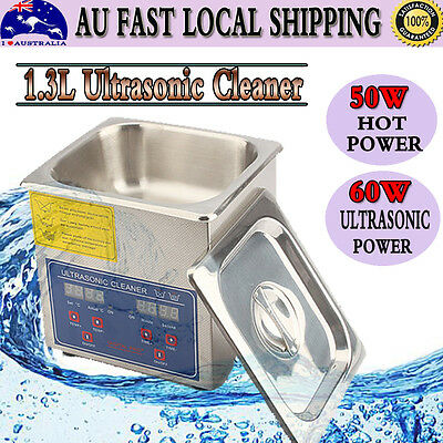 PRO 1.3L Ultrasonic Cleaner Stainless Heater Timer Industrial Grade Wave Tank AU