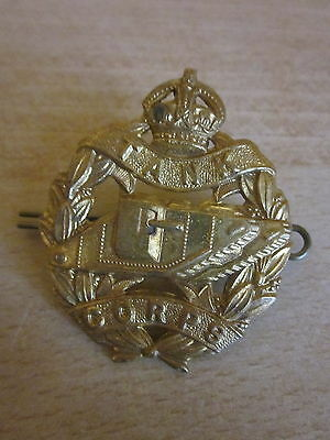 WW1 Brass British Tank Corps Hat Cap Badge Pin