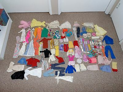 Lot of Approx.140 Vintage 1970s & 1980s Barbie Clothing & Accessory Items