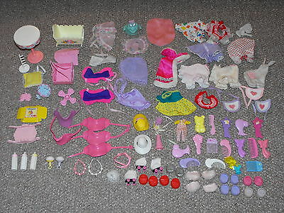 Vintage My Little Pony Lot of 90 Doll & Pony Wear Accessories and Playset Parts