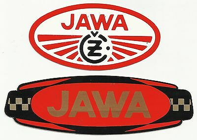 2 - VINTAGE - Jawa - Jawa CZ Motorcycle - Decals - Stickers - Speedway Original