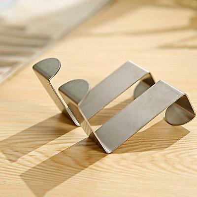 2x Over Door Hook Stainless Kitchen Cabinet Clothes Hanger Organizer Holder Tool