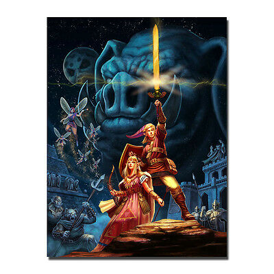 Hot The Legend of Zelda Breath of the Wild Link New Game Art Silk Canvas Poster