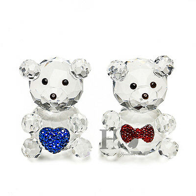 H&D Crystal Figurine Kris Bear You And I, Love Teddy Wedding Ornament Gift